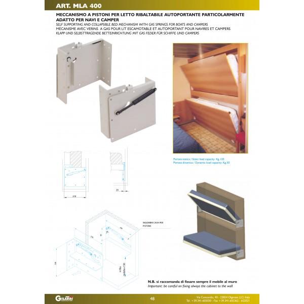 Mecanismos cama abatible imfeco - Sistema cama abatible ...